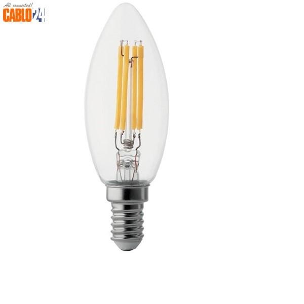 Lampadina Led Oliva 4W E14 3000K Luce calda 390 lumen WIVA LAMPADINA - LED WIVA - Cablo24 ...
