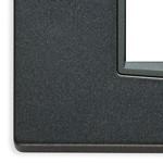 Placca Eikon 4P 20654.15 Antracite matt