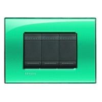 Placca Living Light verde LNA4804VD Bticino Quadra 4 posti