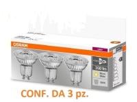 Set da 3 faretti LED Osram GU10 4,8W - 50W Luce Calda 2700k 350 lumen 230V